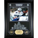 """Troy Aikman Hall of Fame Archival Etched Glass 6"""" x 9"""" Framed Photograph and Medallion Set"""