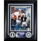 """Troy Aikman Hall Of Fame Induction 8"""" x 10"""" Framed Photograph and Medallion Set from The Highland Mint"""