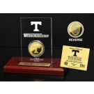 Tennessee Volunteers 24KT Gold Coin in an Etched Acrylic Desktop Display from The Highland Mint