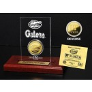 Florida Gators 24KT Gold Coin in an Etched Acrylic Desktop Display from The Highland Mint
