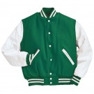 """Varsity"" Wool with Leather Sleeves Jacket From Holloway Sportswear (2X-Large)"