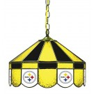 "Pittsburgh Steelers NFL Licensed 16"" Diameter Stained Glass Lamp from Imperial International"
