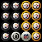 Pittsburgh Steelers NFL Home vs. Away Billiard Balls Full Set (16 Ball Set) by Imperial International