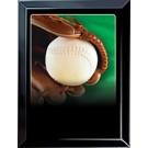 Softball & Glove Sports Scene Medium Plaque