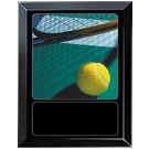 Tennis Court Sports Scene Medium Plaque