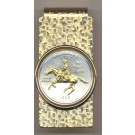 Delaware Two Tone Statehood Quarter Hinged Money Clip