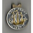 "British Half Penny ""Sailing Ship"" Two Tone Coin Ball Marker"