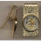 "Mexican 10 Centavo ""Eagle"" Two Toned Coin Hinged Money Clip"