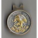 """Mexican 10 Centavo """"Eagle"""" Two Tone Coin Ball Marker"""