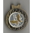 """Papa New Guinea 1 Toea """"Butterfly"""" Two Tone Coin Ball Marker"""