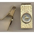 """Uruguay 10 Centesimal """"Horse"""" Two Toned Coin Hinged Money Clip"""