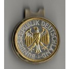 "German 1 Mark ""Eagle"" Two Tone Coin Ball Marker"