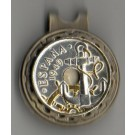 """Spanish 50 Centimes """"Anchor and Ships Wheel"""" Two Tone Coin Ball Marker"""