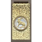 """Ireland 3 Pence """"Rabbit"""" Two Toned Coin Hinged Money Clip"""