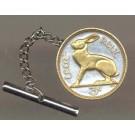 "Ireland 3 Pence ""Rabbit"" Two Tone Coin Tie Tack"