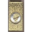 Mercury Dime (1916 - 1945) Two Tone U.S. Coin Hinged Money Clip