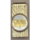 Pennsylvania Two Tone Statehood Quarter Hinged Money Clip