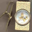 Texas Two Tone Statehood Quarter Hinged Money Clip