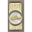 New Jersey Two Tone Statehood Quarter Hinged Money Clip