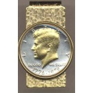 Bicentennial Kennedy Half Dollar (1976) Two Tone U.S. Coin Hinged Money Clip
