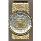 Reverse Kennedy Half Dollar (1970- Date) Two Tone U.S. Coin Hinged Money Clip