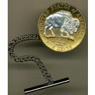 "New Jefferson Nickel ""Sacred White Buffalo"" (2005) Two Tone U.S. Coin Tie Tack"