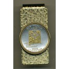 New Mexico Two Tone Statehood Quarter Hinged Money Clip
