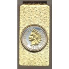 Indian Head Penny (1859 -1909) Two Tone U.S. Coin Hinged Money Clip