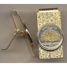 Connecticut Two Tone Statehood Quarter Hinged Money Clip