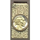 Indian Head Nickel (1913 - 1938) Two Tone U.S. Coin Hinged Money Clip