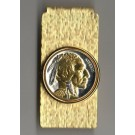U.S. Indian Head Nickel Two Tone Coin Hinge Money Clip (Minted 1913 - 1938)