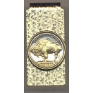 Buffalo Nickel  (1913 - 1938) Two Tone U.S. Coin Hinged Money Clip