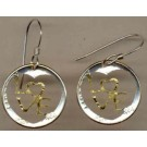 U.S. Dime Two Toned Coin Cut Out Earrings