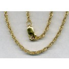 "1.5 MM Rope Chain 18"" Gold Filled Necklace"