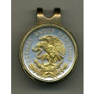 "Mexican 10 Centavo ""Eagle"" Two Tone Coin Golf Ball Marker"