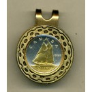"Canadian 10 Cent ""Bluenose Sail Boat"" Two Tone Coin Golf Ball Marker"