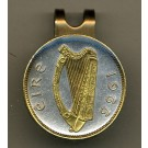"Irish 1/2 Penny ""Harp"" Two Tone Coin Golf Ball Marker"