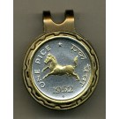 "India 1 Pice ""Horse"" Two Tone Coin Golf Ball Marker"