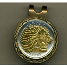 "Ethiopia 25 Cent ""Lion"" Two Tone Coin Golf Ball Marker"