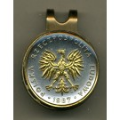 "Polish 5 Zlotych ""Eagle"" Two Tone Coin Golf Ball Marker"