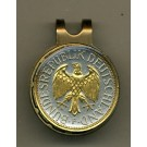 "German 1 Mark ""Eagle"" Two Tone Coin Golf Ball Marker"