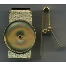 Gold Plated Hinged Money Clip (Silver Dollar Size)
