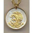 """Mexican 10 Centavo """"Eagle"""" Two Tone Coin with 18"""" Necklace"""