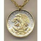 """Mexican 20 Centavo """"Eagle"""" Two Tone Coin with 24"""" Necklace"""