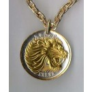 "Ethiopia 25 Cent ""Lion"" Two Tone Coin Pendant with 18"" Chain"