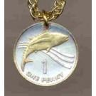 "St. Helena Island Penny ""Tuna Fish"" Coin Pendant with 18"" Chain"
