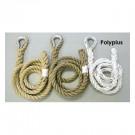 "1 1/2"" x 18' Polyplus / Rope Eye Indoor Adventure / Traverse Climbing Rope"
