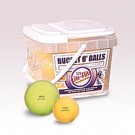 "Bucket of JUGS 12"" Optic Lite-Flite® Game-Ball Yellow™ Softballs - 12 Balls"