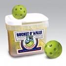 Bucket of JUGS BULLDOG™ Game-Ball Yellow™ Softballs - 12 Balls