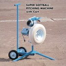 Super Softball™ Pitching Machine with Cart